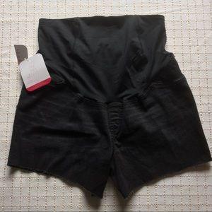 Isabel Maternity Black Midi Shorts, Size 12